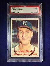 1957 Topps Warren Spahn #90 PSA 7 Milwaukee Braves HOF