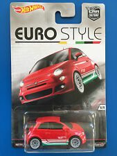 RARE 2016 Hot Wheels Car Culture EURO STYLE 2014 FIAT 500 - mint on card!