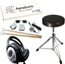Aerodrums Air-Drumming E-Drum + KEEPDRUM Drumhocker + Kopfhörer