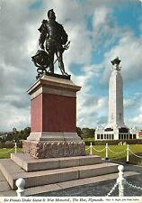 B102745 sir francis drake statue and war memorial the hoe plymouth    uk