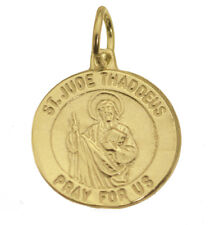 24K Gold Plated St Patron Saint Jude medal charm Religious Jewelry the Apostle