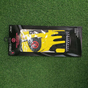 New Zero Friction Compression Fit Performance Golf Gloves, Yellow, Men's left