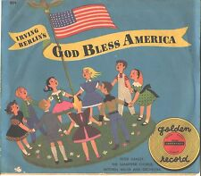 GOD BLESS AMERICA-PICTURE SLEEVE + 45---PS--PIC---SLV