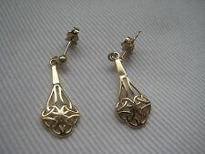 9 carati oro giallo celtico orecchini nuovi in HOT arrivo sulla promozione