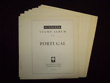 Schaubek Collection of Portugal Album Pgs (21) 1945-1964, Used/