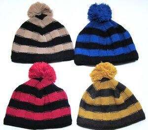 New Woolrich 50% Wool - 50% Acrylic blend beanie w/ pom pom & fleece headband