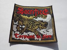 SACRIFICE TORMENT IN FIRE THRASH METAL EMBROIDERED PATCH
