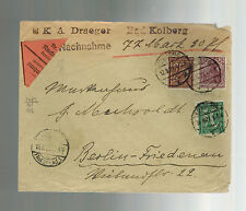 1921 Bad Kolberg Germany Inflation Cover to Berlin Mi 148I expertized