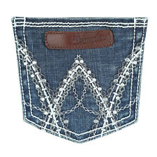 NWT 10MWZCT Wrangler Premium Patch Mae Fit Jeans Above Hip Boot Cut 7/8 X 32