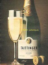PUBLICITE CHAMPAGNE TAITTINGER BRUT SCEAU DE THIBAUT IV REIMS DE 1980 FRENCH AD
