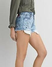 +NWOT AMERICAN EAGLE OUTFITTERS VINTAGE HI-RISE FESIVAL SHORTS sz 12 as is