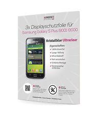 3x Displayschutzfolie Samsung i9001 Galaxy S Plus UltraClear Schutzfolie Klar