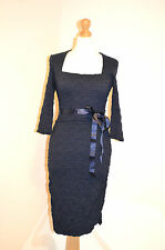 """PHASE EIGHT BLUE """"TABITHA""""RUCHED FITTED WEDDING OCCASION DRESS 10 BNWT RRP £95"""