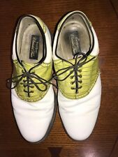 Footjoy Classics Tour Green/White Saddle Golf Shoes Excellent Condition 12 E