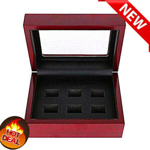 2/3/4/5/6hole Wooden Display Box for World Series Stanley Cup Championship Ring