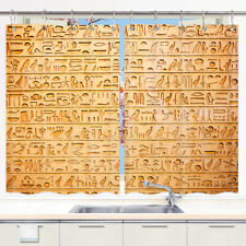 Ancient Egyptian Kitchen Window Curtain, Window Treatment Set Drapes 2 Panels