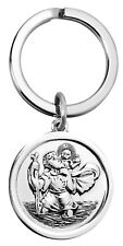 Sterling Silver St Christopher Key Ring with Free Engraving (8881)