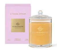 Glasshouse Tahaa 380g Soy Candle Vanilla Caramel Triple Scented Handmade