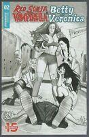 Red Sonja Vampirella Meet Betty and Veronica #2 NM 1:5 B&W Dalton Variant SFX