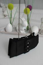 MENBUR Abendtasche Clutch  Satin Tasche Handtasche Schwarz XS