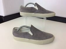 Woman By Common Projects New Grey Suede Loafers Shoes Slip On Bnwob Size 39 Uk 6