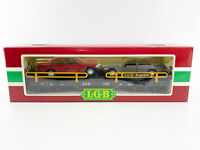 LGB 4059 Mercedes Benz Auto Carrier Flat Car Train & Two Cars G Scale New in Box