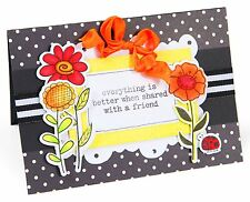 Sizzix Framelits Garden Flowers set #657852 Retail $24.99 5 DIES & STAMPS - WOW!