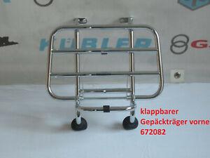 original Vespa LX LXV S Gepäckträger vorne chrom 672082