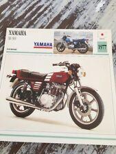 Yamaha XS 360 1977 XS360 360XS Carte moto Collection Atlas Japon