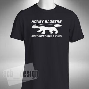Honey Badger Mens T Shirt Funny Crazy Fearless Animal Ratel Mustelidae