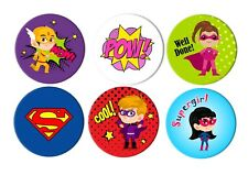 APATHETIC SUPERHERO STICKERS 9 Different Designs 9 Big Stickers