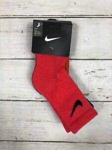 Nike Boys Crew Socks 3 Pair 9c-13C Red gray black Bin 166c 788 789