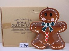 HOME & GARDEN PARTY STONEWARE COLLECTION TRAY PLATTER-GINGERBREAD MAN CHRISTMAS