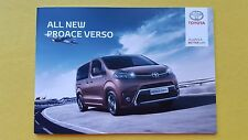 Toyota Proace Verso Shuttle Family VIP brochure catalogue February 2017 MINT