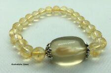 Citrine Crystal Bracelet Therapeutic Gemstone 8mm Tumble bead Chakra cleansing