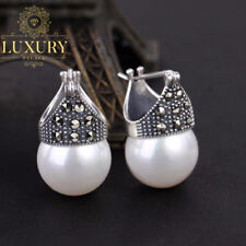Natural Creative Handmade Real 925 Sterling Silver Vintage Fashion Drop Earrings