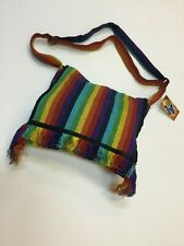 New Rainbow Hippie Boho Festival Cotton Unisex Bag