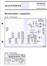 Telefunken Original Service Schaltplan für TR 350 hifi mit Chassis 1000