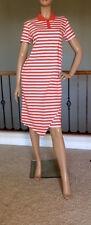 UNIQLO JW ANDERSON WOMEN ORANGE STRIPED POLO RUFFLE DRESS NWT SIZE XS