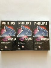 More details for 3 x philips vhs 180 extra performance videocassette pal secam. new still sealed.