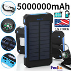 Waterproof 5000000mAh Solar Charger 2 USB Portable Solar Battery Pack Power Bank