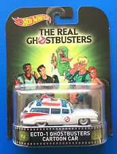 2015 Hot Wheels Retro Entertainment THE REAL GHOSTBUSTERS ECTO-1 CADILLAC mint!