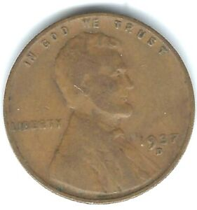 1937-D Denver Circulated Business Strike Copper One Cent Coins!