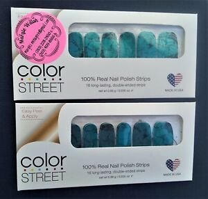 Color Street Nail Strips SOUTHWEST DREAM Turquoise Stone RETIRED 2 Unopened Pkgs