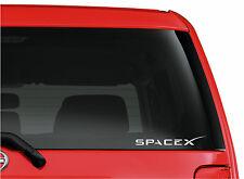 SpaceX logo, cut vinyl window, bumper, sticker/decal