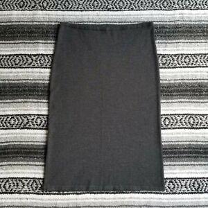 Talbots Pet. Sz S Pure Italian Merino Wool Pull On Straight Midi Skirt Charcoal