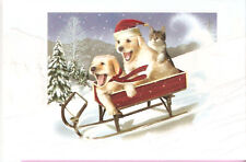 Golden Retriever The Need for Speed Embossed Christmas Cards - Box of 16