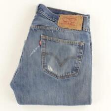 Levi's Jeans 501 Men Distressed Button Fly Denim Size 36x34