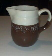 Universal/Oxfordware SNOWDROP Snow Flower Brown Cream Milk Pitcher (loc-B3)