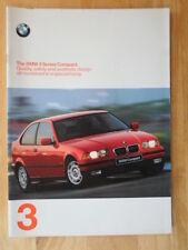 BMW 3 SERIES COMPACT orig 1997 UK Mkt Sales Brochure